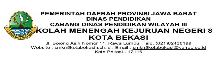 Hasil Seleksi Ppdb Smkn8 Kota Bekasi 2019 Smk Negeri 8